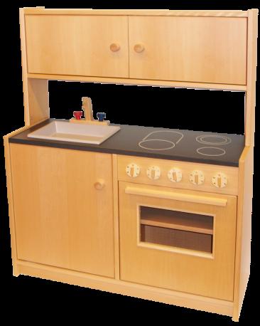 Kompaktküche mit Aufsatz mit Türen, Arbeitshöhe 57cm