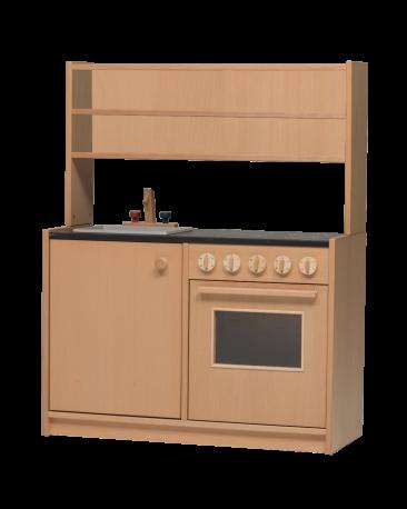 Kompaktküche mit Aufsatz offen, Arbeitshöhe 73cm