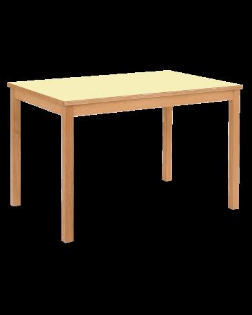 Tisch mit Kunstharzbelag, 120 x 90cm