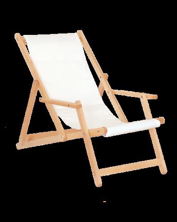 Liegestuhl gross, zum Bemalen, ohne Fussteil