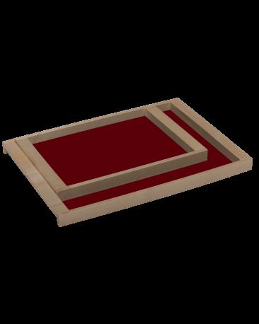 Servierbrett klein, rot