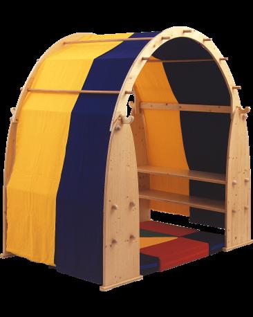 Stoffdach zu Spielhaus, 2-farbig