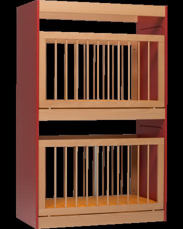Etagen-Gitterbett für 2 Kinder