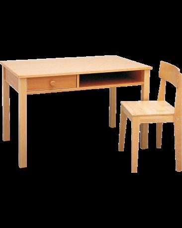 Lehrerinnentisch mit Massivholzplatte