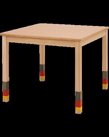Spieltisch höhenverstellbar mit Massivholzplatte, 90 x 90cm