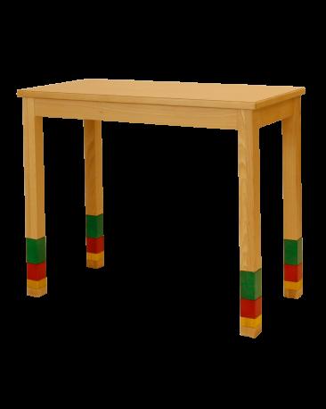 Spieltisch höhenverstellbar mit Massivholzplatte, 90 x 45cm