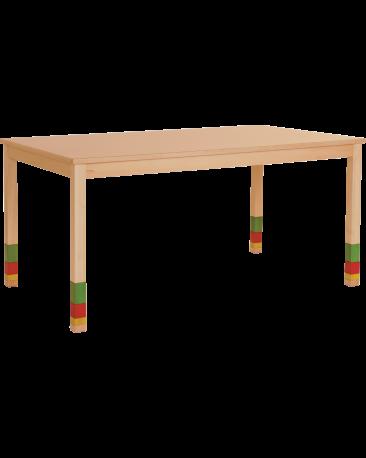 Spieltisch höhenverstellbar mit Massivholzplatte, 150 x 90cm