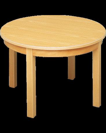 Spieltisch rund mit Massivholzblatt, 90cm