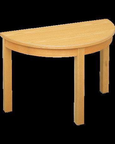 Spieltisch halbrund mit Massivholzplatte, 90 x 45cm