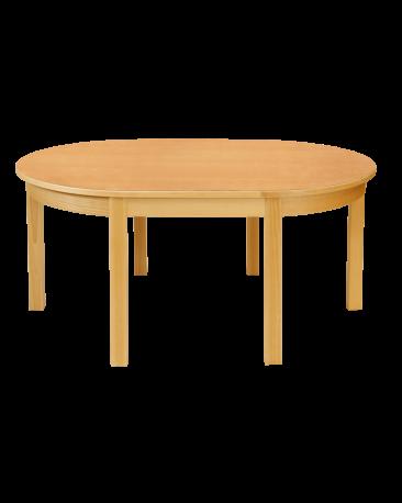 Spieltisch oval mit Massivholzblatt