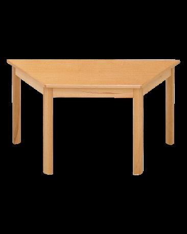 Spieltisch Trapez mit Massivholzplatte