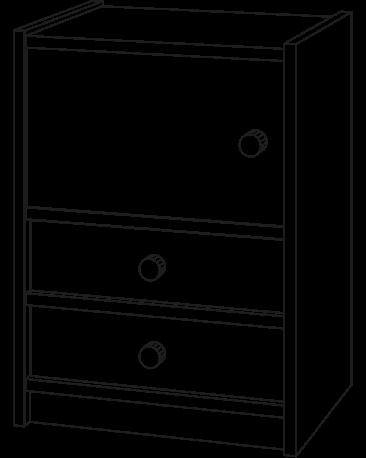Schrank, Höhe 73cm