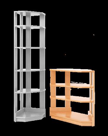 Eckregal, Höhe 73cm
