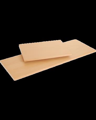 Tablar für Pfostenregal mit Vorhangschiene